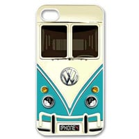 iphone 4 4s case Funny cute Blue teal volkswagen VW mini bus van iphone 4 4s case black or white color case