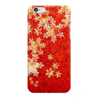 Red and Gold Snowflakes iPhone Case, Samsung Galaxy Snap Case, Christmas Phone Case