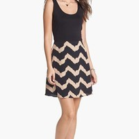dee elle Print Fit & Flare Dress (Juniors) (Online Only) | Nordstrom