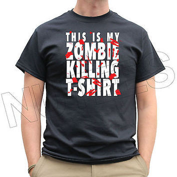 This Is My Zombie Killing T-Shirt Mens Ladies T-Shirt Tank Top Vests S-XXL Size
