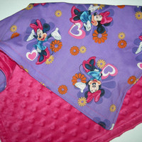 Minnie Mouse Purple & Hot Pink Security Blanket