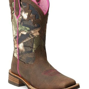 Ariat Unbridled Camo Cowgirl Boots - Square Toe - Sheplers