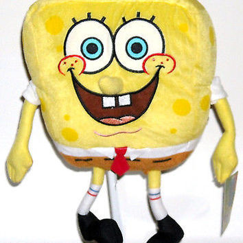 "Nick Jr.Yellow Spongebob Squarepants 20"" Plush Doll Soft Stuffed Toy Figure-New!"