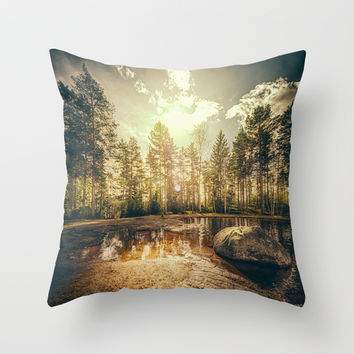 Sonne II Throw Pillow by HappyMelvin