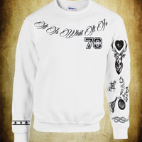 Unisex Crewneck Sweatshirt Louis Tomlinson Tattoos One Direction 1D
