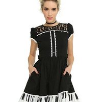 Piano Key Ruffle Dress