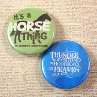 Horse Lover Pinback Button Set