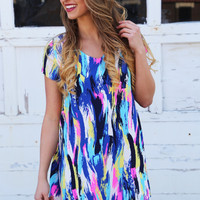 Brush Strokes Multi Colored Dress By Buddy Love