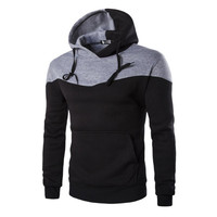 Hoodies Men Sudaderas Hombre Hip Hop Mens Hoodie Decorative Pocket Patchwork Sweatshirts Tracksuit