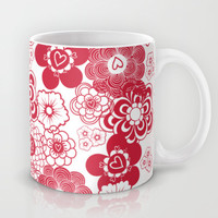 giving hearts giving hope: red garden Mug by Vy La