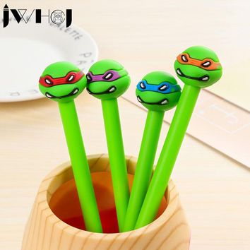 2 pcs/lot JWHCJ Creative kawaii ninja turtles gel pen stationery office material escolar papelaria school supplies Free shipping