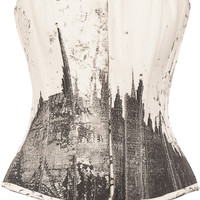 Curvaceous Black and White Overbust Corset