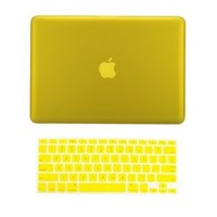 "TopCase Macbook Pro 15"" A1398 with Retina Display 2 in 1 Rubberized YELLOW Hard Case Cover and Keyboard Cover (LATEST VERSION / No DVD Drive / Release June 2012) +TopCase Mouse Pad"