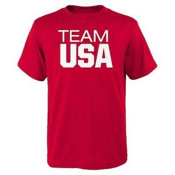 Licensed Sports Team USA Youth 2016 Olympics Pride T-Shirt - Red KO_20_2