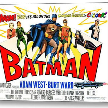 1966 Batman Vintage Movie Poster Comic restored XTRA-Color Adam West