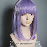 Dagashi Kashi Shidare Hotaru Lavender . light purple shoulder length cosplay wig .