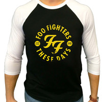 FOO FIGHTERS these days Three Quarter Sleeve Raglan Shirt
