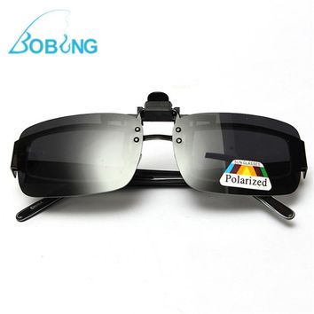 Bobing Polarized Clip On Fishing Sunglasses Fishing Eyewear S M L Fish Sports Glasses Lens