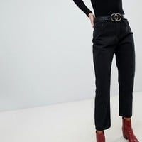Lost Ink High Waist Jeans In Straight Leg Fit at asos.com