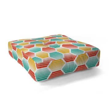 Heather Dutton Honey Jive Summerlicious Floor Pillow Square