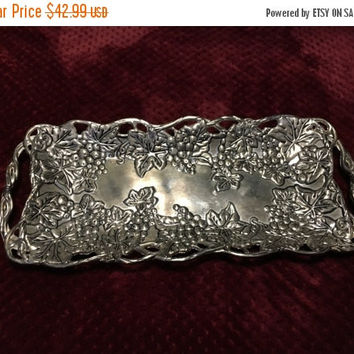 5 DAY SALE (Ends Soon) Vintage Silver Godinger Co serving tray