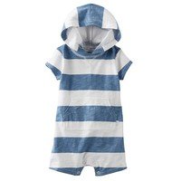 OshKosh B'gosh Striped Knit Romper - Baby Boy