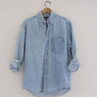 25% OFF STOREWIDE vintage oversized faded blue denim GAP jean shirt / Size men's M
