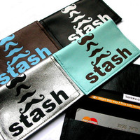 Men's Moustache Leather Business Card Holder & Credit Card Case