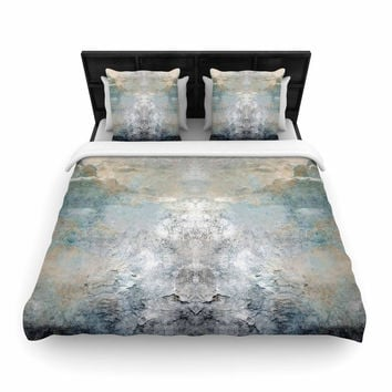 "Pia ""Heaven II"" Mixed Mediia Abstract Woven Duvet Cover"