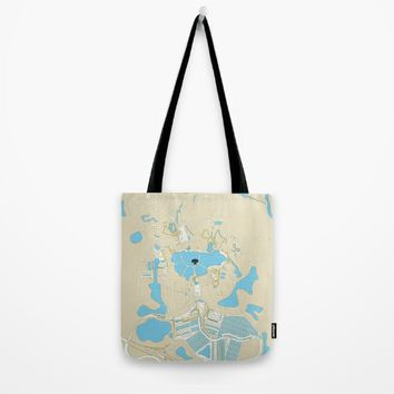 animal kingdom map Tote Bag by studiomarshallarts
