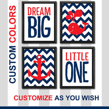dream big little one nautical nursery art baby nursery decor new baby gift whale anchor baby boy nursery baby boys room boy nursery ideas