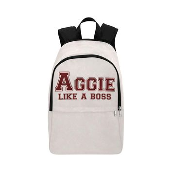 """College Station University """"Like a Boss"""" Backpack - White"""
