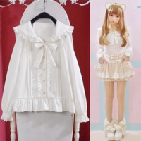 White Sailor Ruffle Blouse from Pocket Tokyo