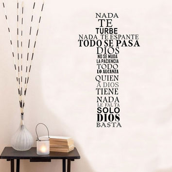 Spanish GOD Vinyl Quote Home Decor