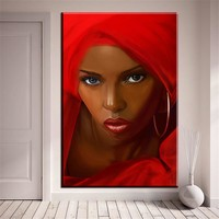 xh2270  canvas Paintings Canvas Art Pictures Home Decor Abstract African Women in red Figure Painting For Living Room unframed