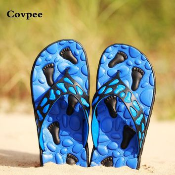Famous Brand Designer Casual Plaid Stripes Beach Men Sandals Slippers Summer Fashion Men Outdoor Casual Beach Flip flops