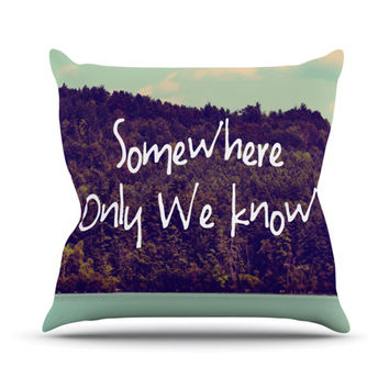 "Rachel Burbee ""Somewhere"" Throw Pillow"