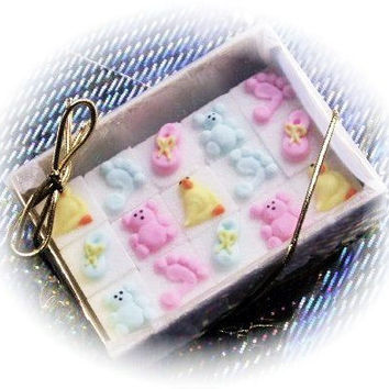48 Decorated Sugar Cubes - Baby Shower