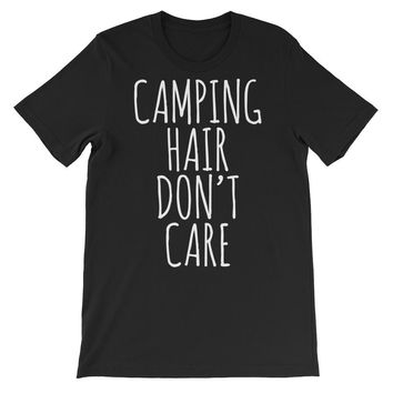Camping Hair Don't Care Unisex Graphic Tee