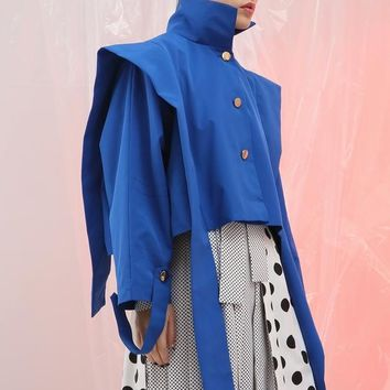 Long Sleeve Ruffles Split Joint Jacket