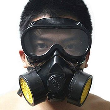 Industrial Gas Chemical Anti-Dust Respirator Mask Goggles Set (Style A)