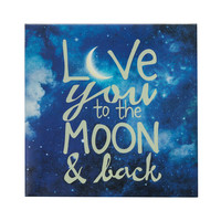 Love You To The Moon Starry Canvas