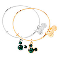 Mickey Mouse Birthstone Bangle by Alex and Ani - May