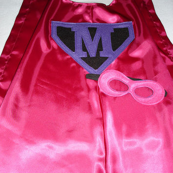 Children's Custom Superhero Personalized Kids Cape Including Matching Mask