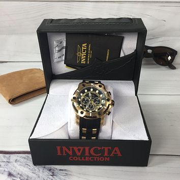 Invicta 26751 Bolt Men's Watch Stainless Steel Gold Black Chronograph (NWOT)