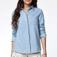 Finders Keepers Underpass Chambray Shirt - Womens Shirts - Blue