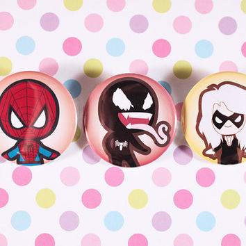 Spiderman Pin Set