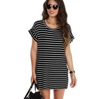 Black Ringleader Striped Tunic