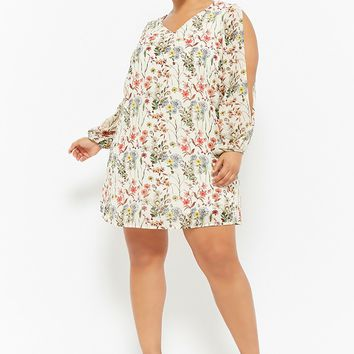 Plus Size Floral Mini Dress
