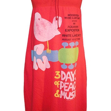 Woodstock Poster Strapless Tube Dress